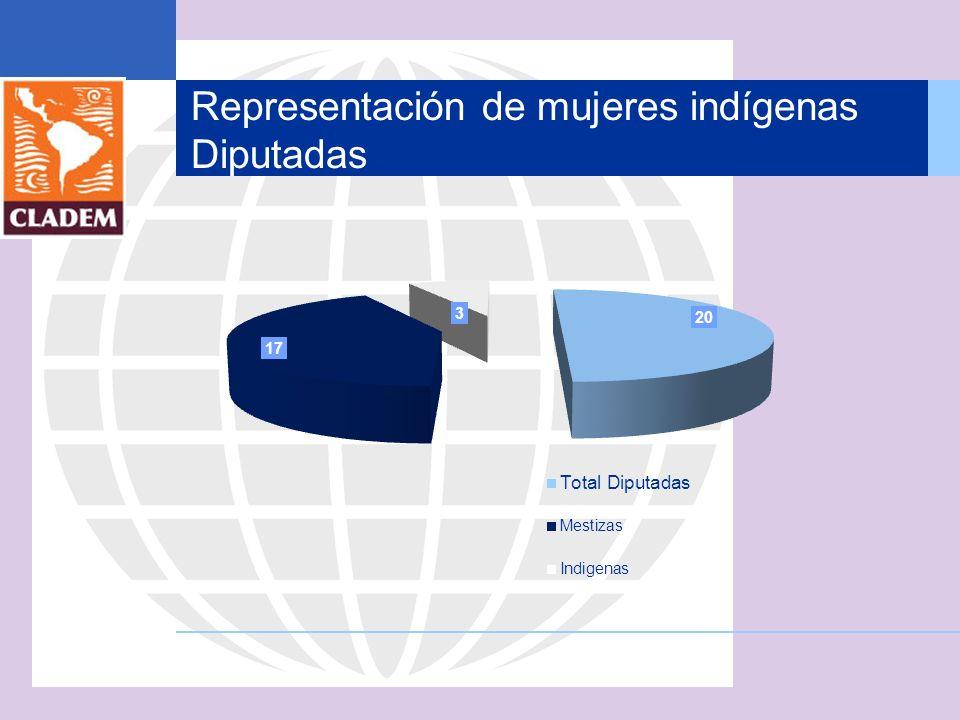 Representación de mujeres indígenas Diputadas