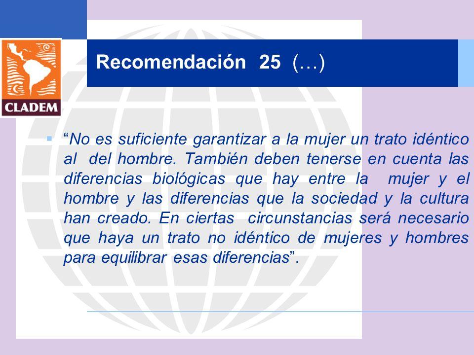 Recomendación 25 (…)