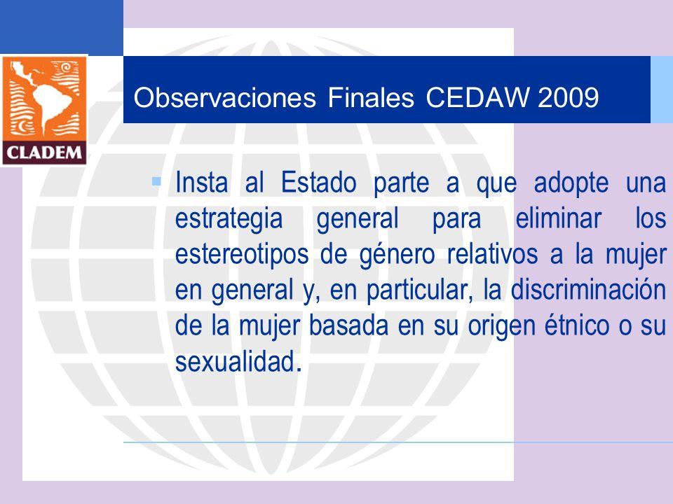 Observaciones Finales CEDAW 2009