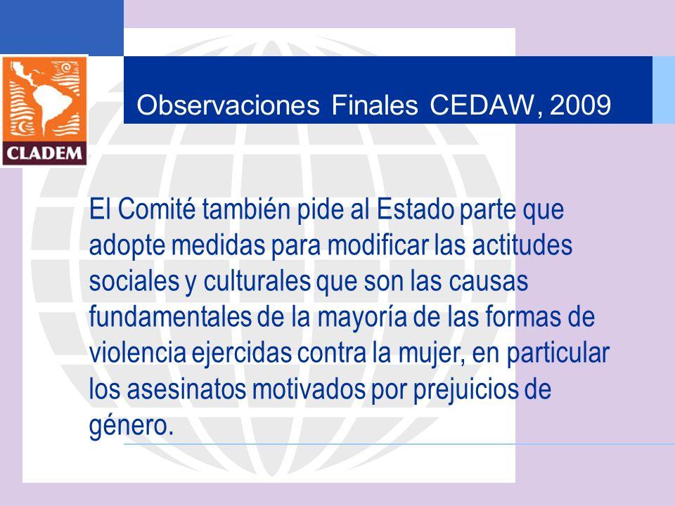 Observaciones Finales CEDAW, 2009