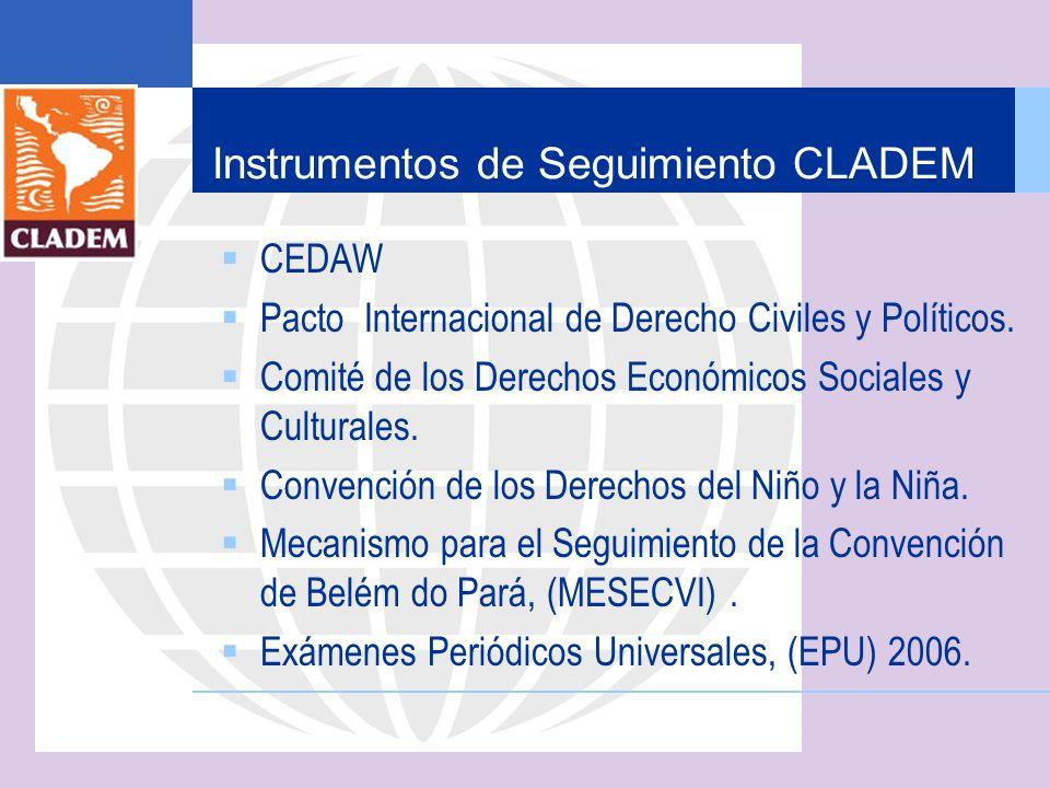 Instrumentos de Seguimiento CLADEM