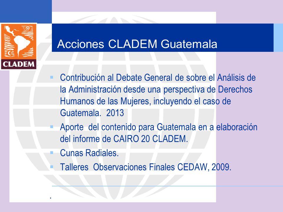 Acciones CLADEM Guatemala