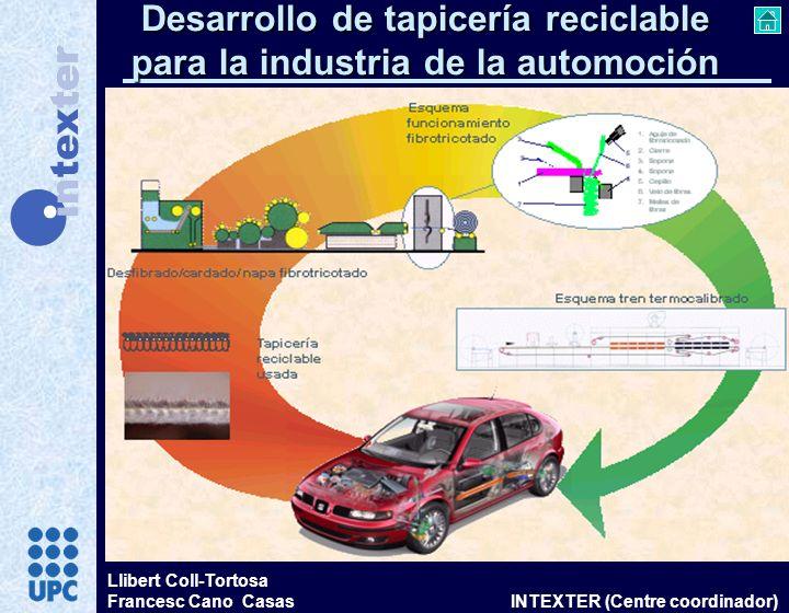 Desarrollo de tapicería reciclable para la industria de la automoción