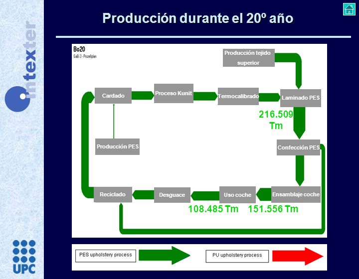 Producción durante el 20º año