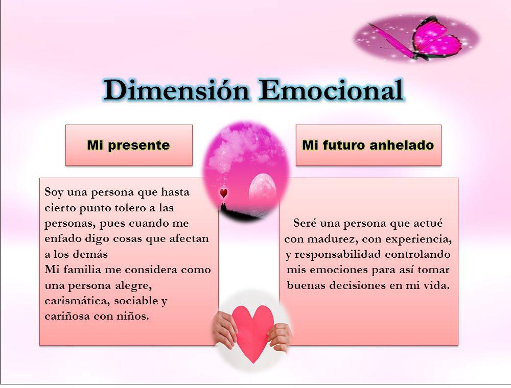 Dimensión Emocional Mi presente Mi futuro anhelado