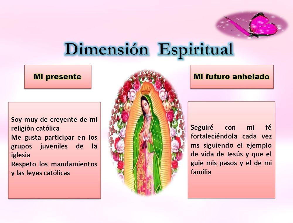 Dimensión Espiritual Mi presente Mi futuro anhelado