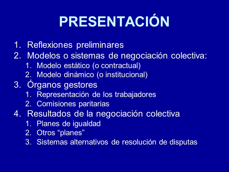 PRESENTACIÓN Reflexiones preliminares
