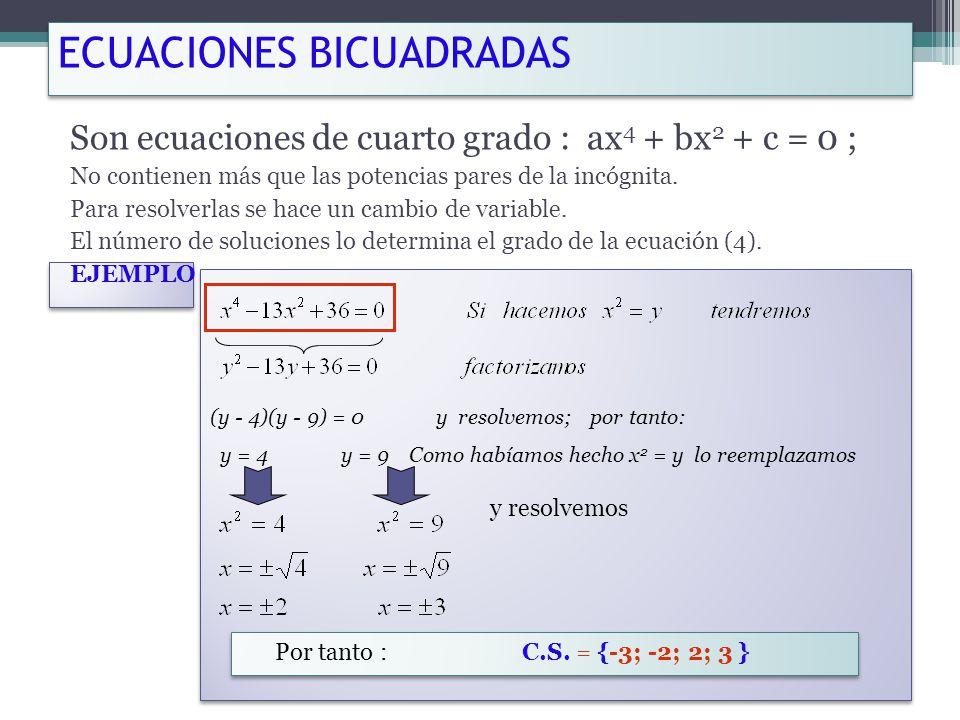 Ecuaciones Cuadráticas - ppt descargar