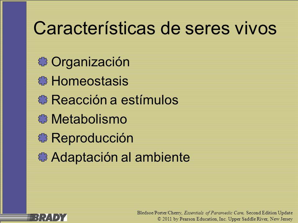 Características de seres vivos