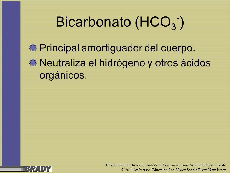 Bicarbonato (HCO3-) Principal amortiguador del cuerpo.