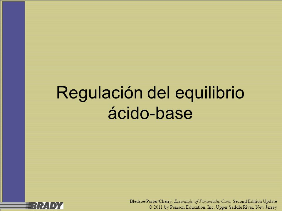Regulación del equilibrio ácido-base