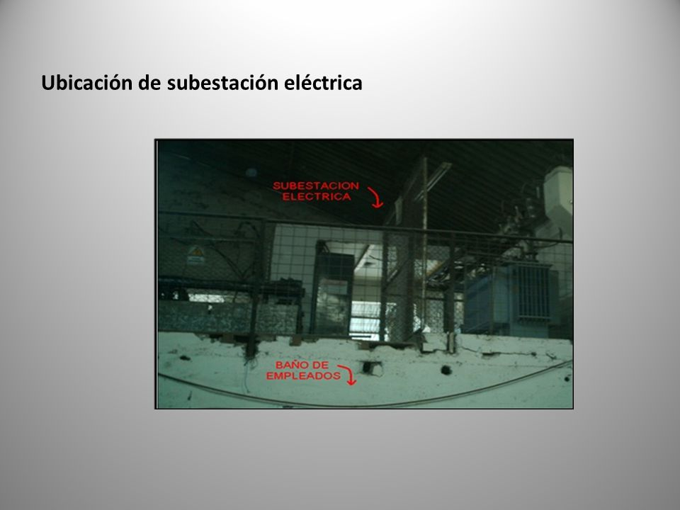 Ubicación de subestación eléctrica
