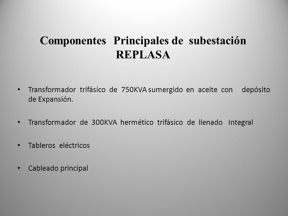 Componentes Principales de subestación REPLASA