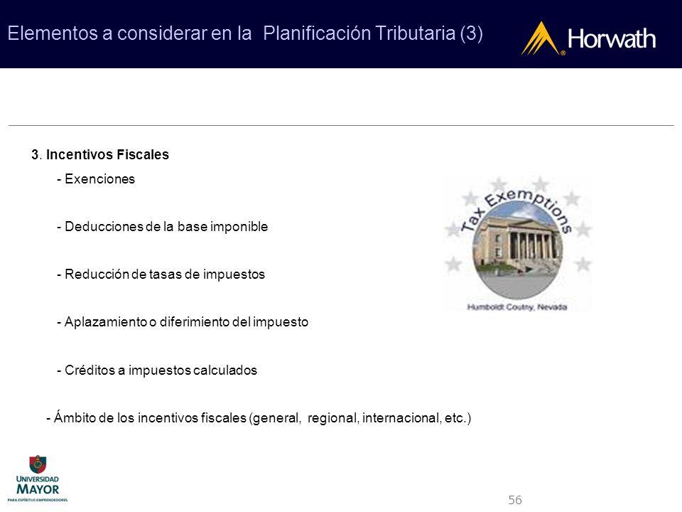 Elementos a considerar en la Planificación Tributaria (3)
