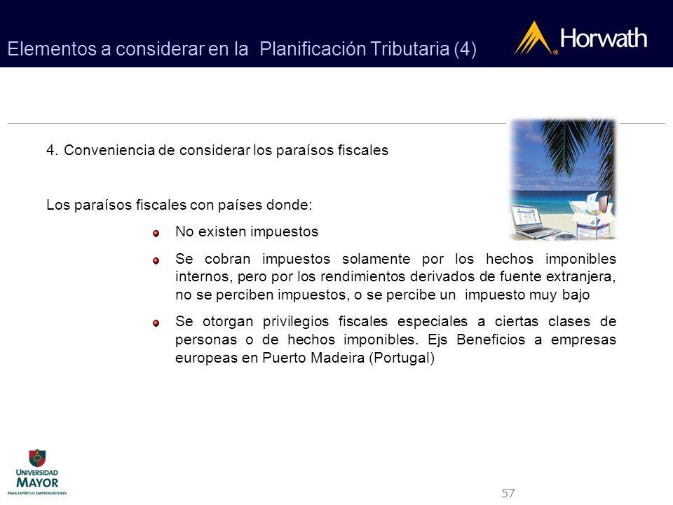 Elementos a considerar en la Planificación Tributaria (4)