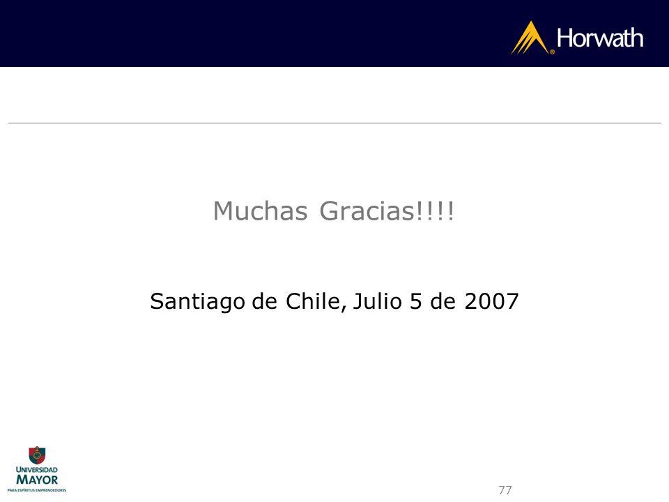 Santiago de Chile, Julio 5 de 2007