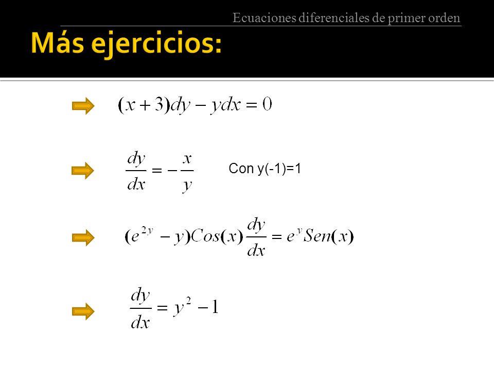 Más ejercicios: Con y(-1)=1