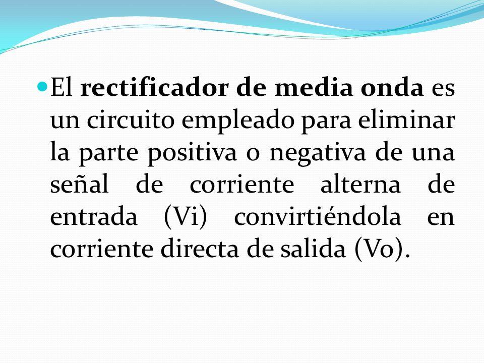 Circuito Rectificador De Media Onda : ElectrÓnica de potencia ppt descargar