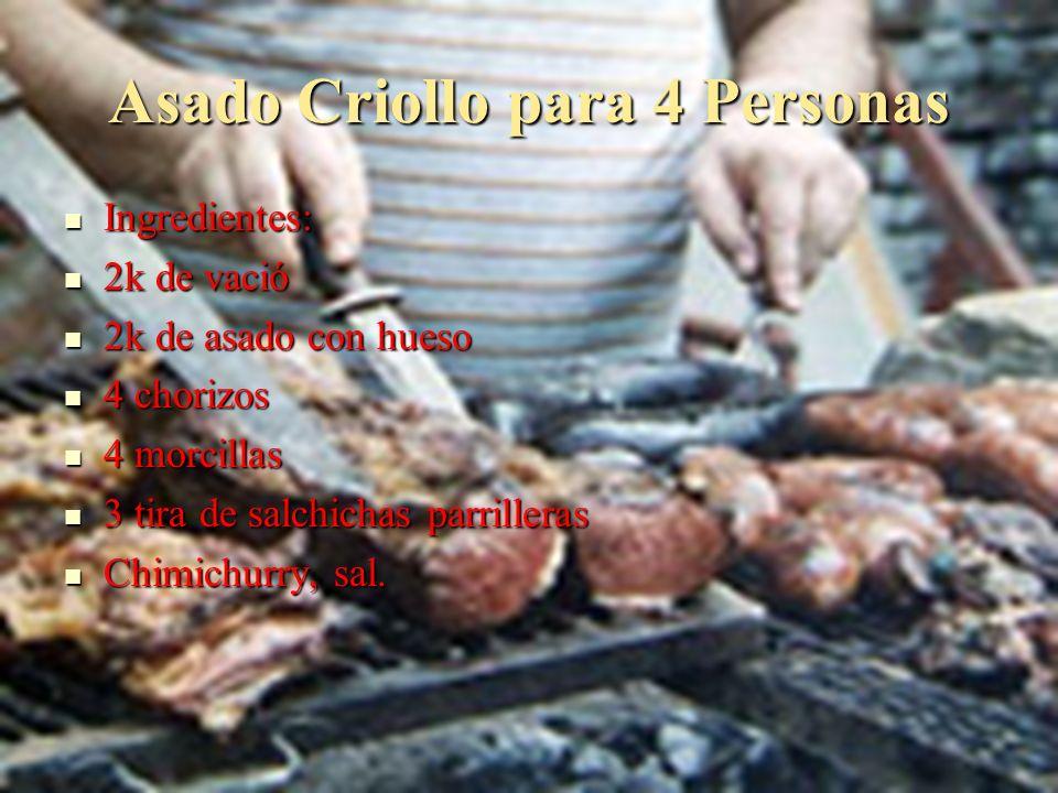 Asado Criollo para 4 Personas
