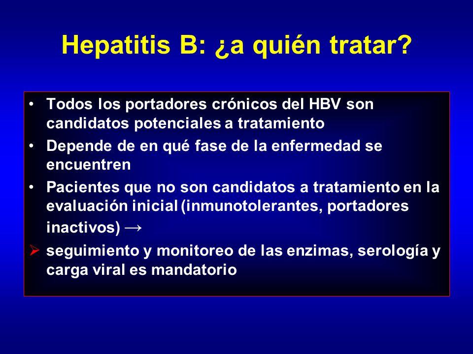 Historia natural de la hepatitis B: ¿qué pacientes tratar
