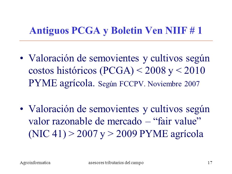 Antiguos PCGA y Boletin Ven NIIF # 1
