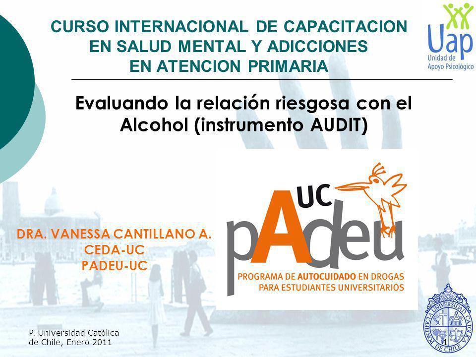 Evaluando la relación riesgosa con el Alcohol (instrumento AUDIT)