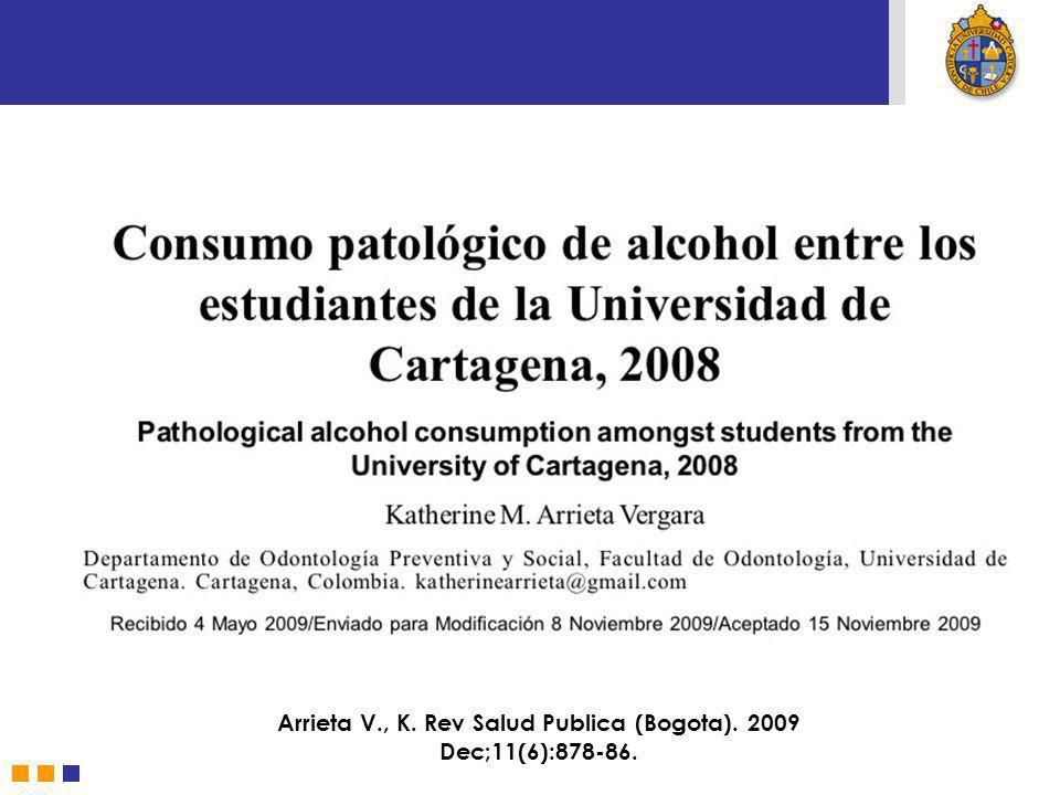 Arrieta V., K. Rev Salud Publica (Bogota). 2009 Dec;11(6):878-86.