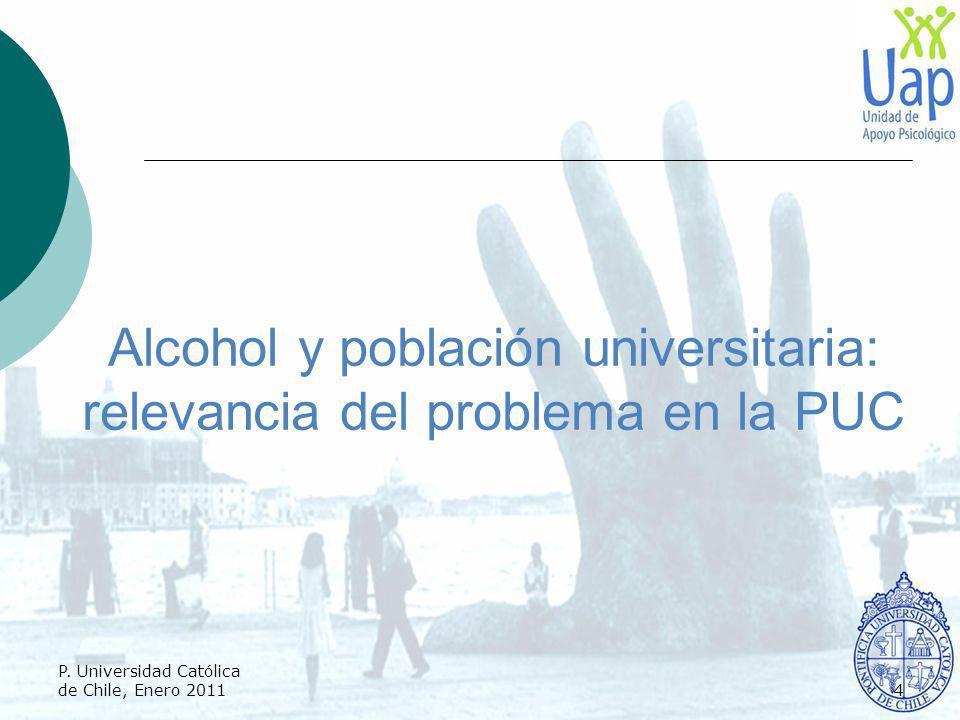 Alcohol y población universitaria: relevancia del problema en la PUC