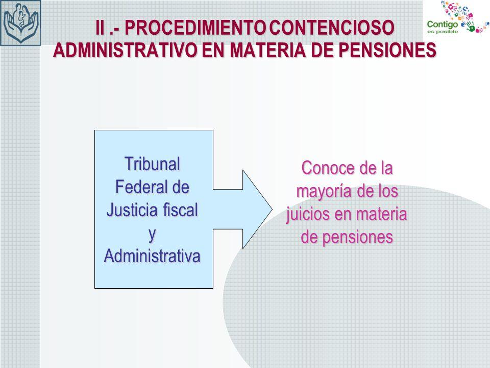 II .- PROCEDIMIENTO CONTENCIOSO ADMINISTRATIVO EN MATERIA DE PENSIONES