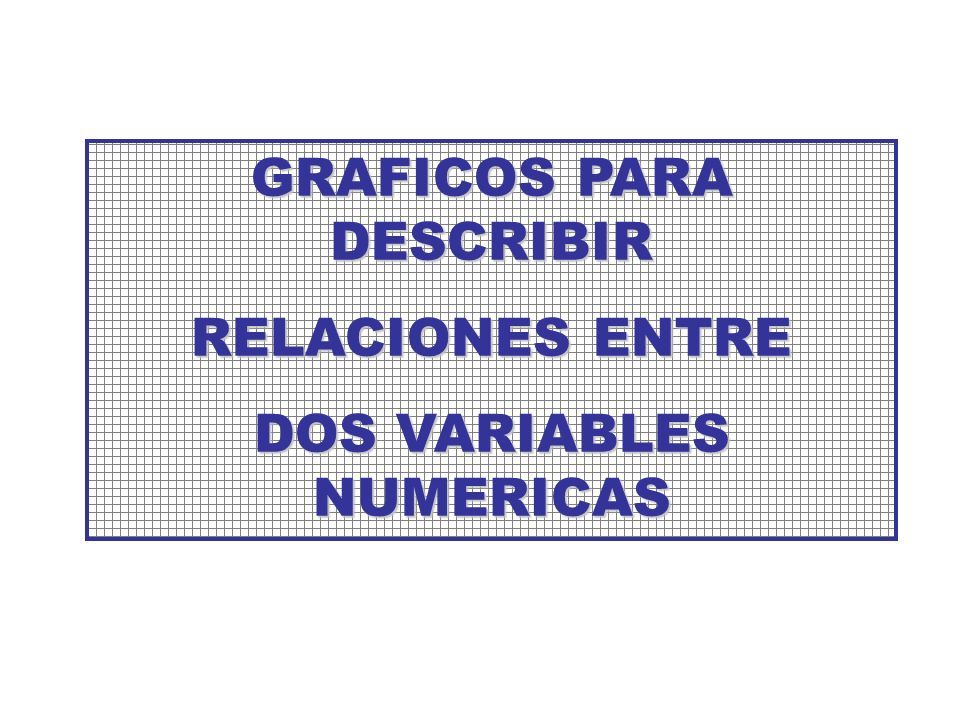 GRAFICOS PARA DESCRIBIR DOS VARIABLES NUMERICAS