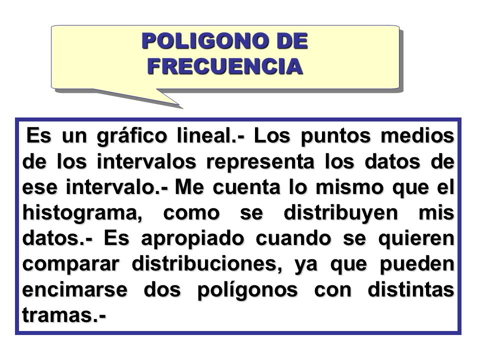 POLIGONO DE FRECUENCIA