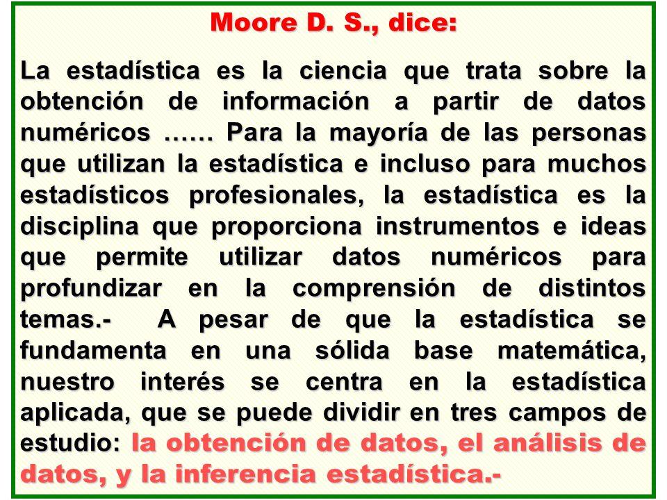 Moore D. S., dice: