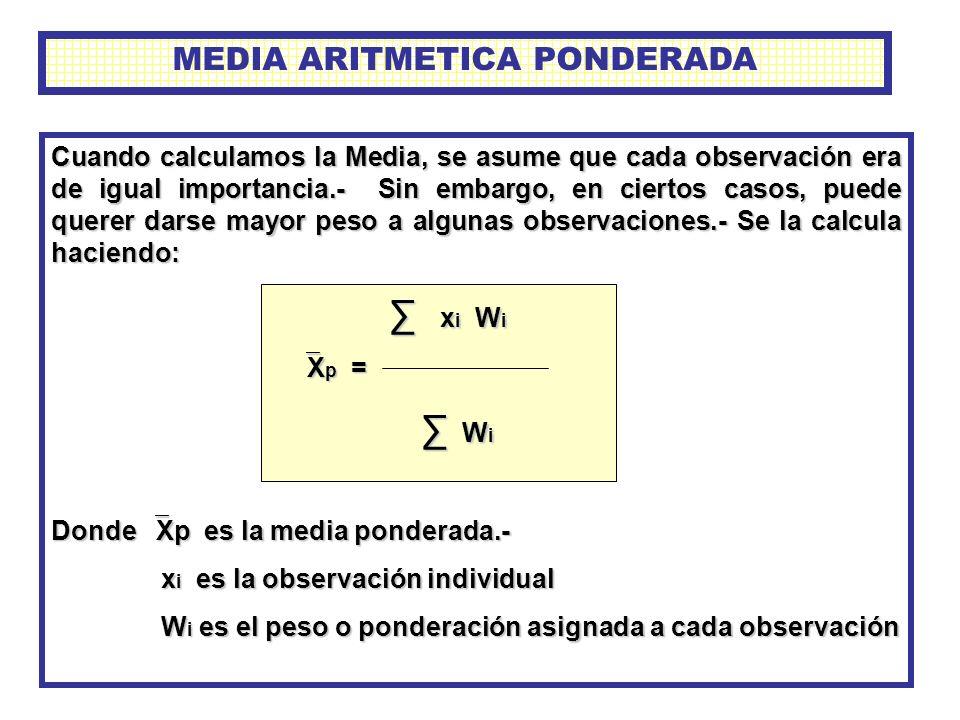 MEDIA ARITMETICA PONDERADA