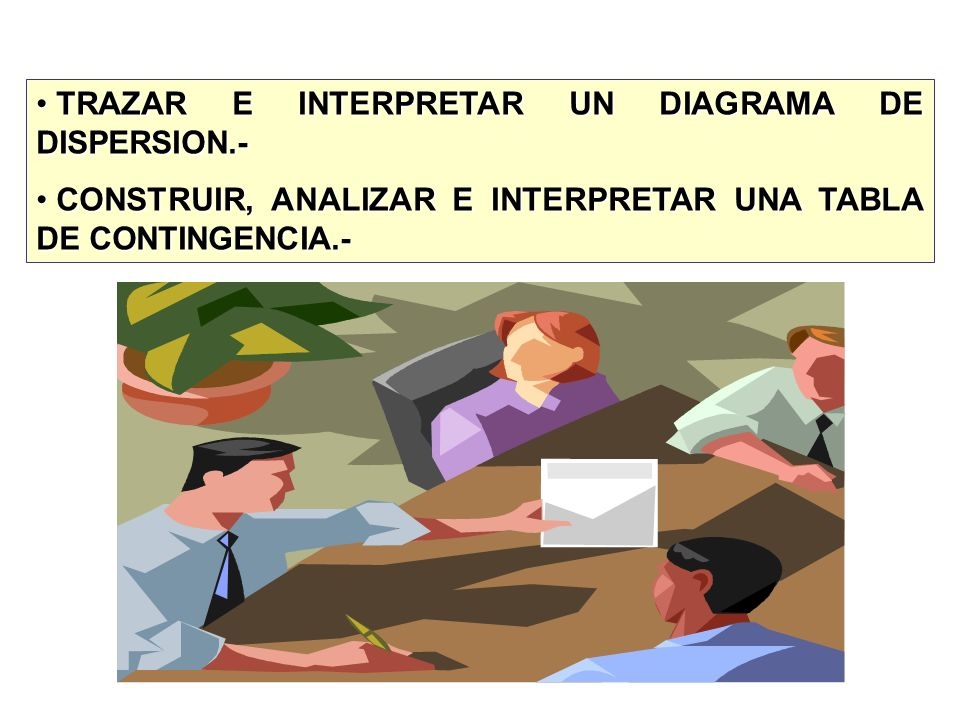 TRAZAR E INTERPRETAR UN DIAGRAMA DE DISPERSION.-
