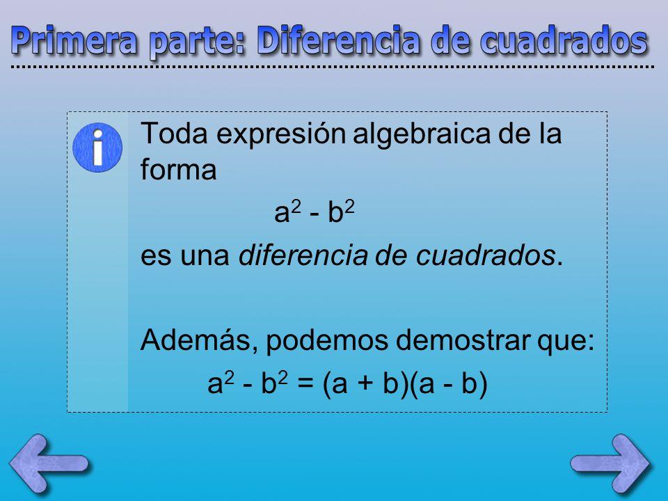 Toda expresión algebraica de la forma