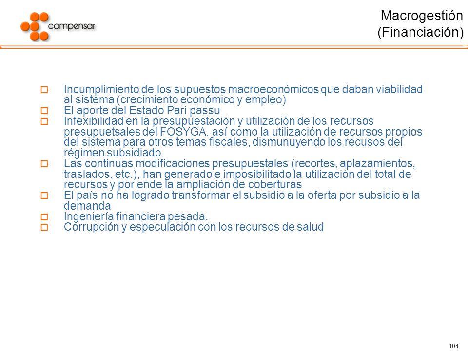 Macrogestión (Financiación)