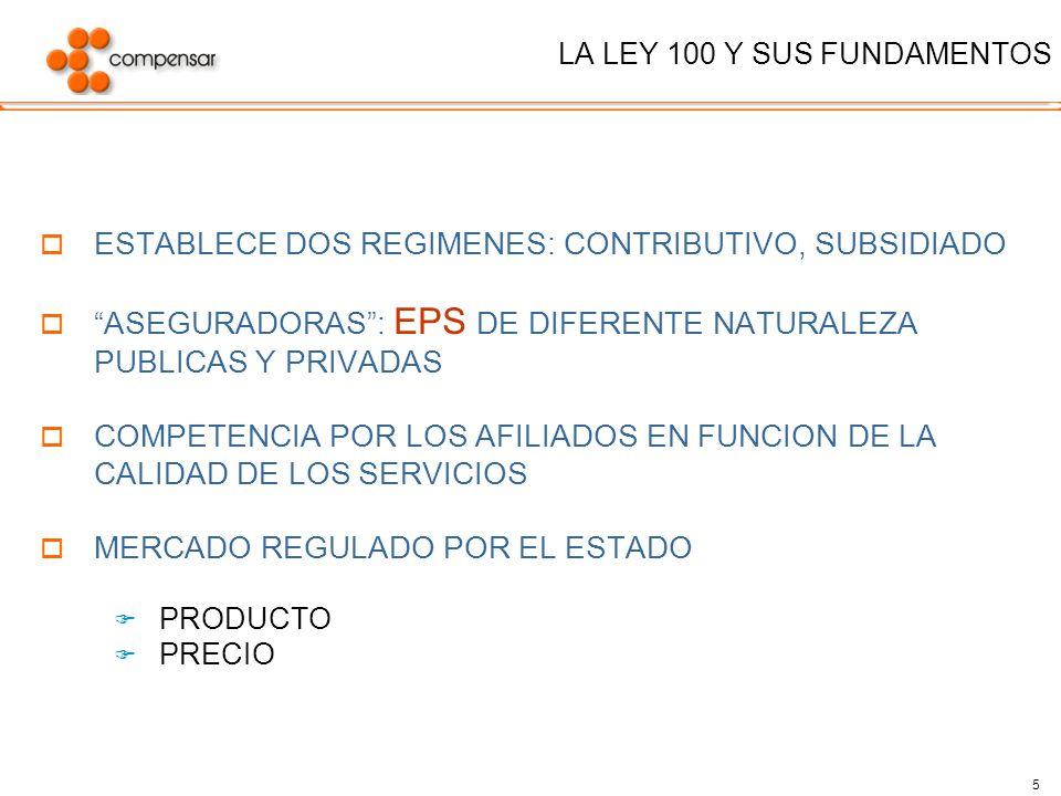 LA LEY 100 Y SUS FUNDAMENTOS