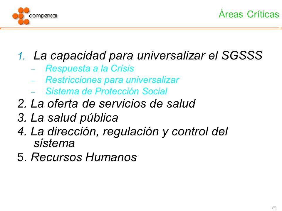 La capacidad para universalizar el SGSSS