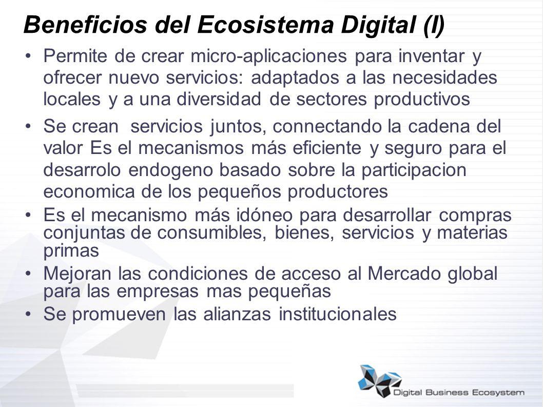 Beneficios del Ecosistema Digital (I)