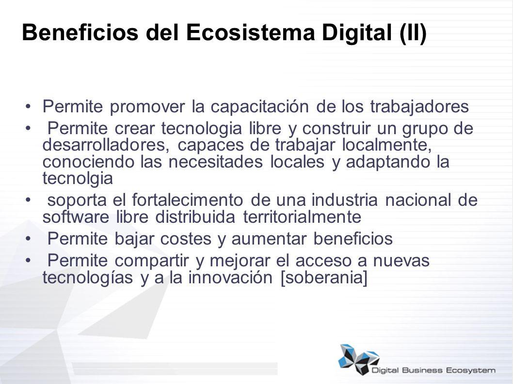 Beneficios del Ecosistema Digital (II)