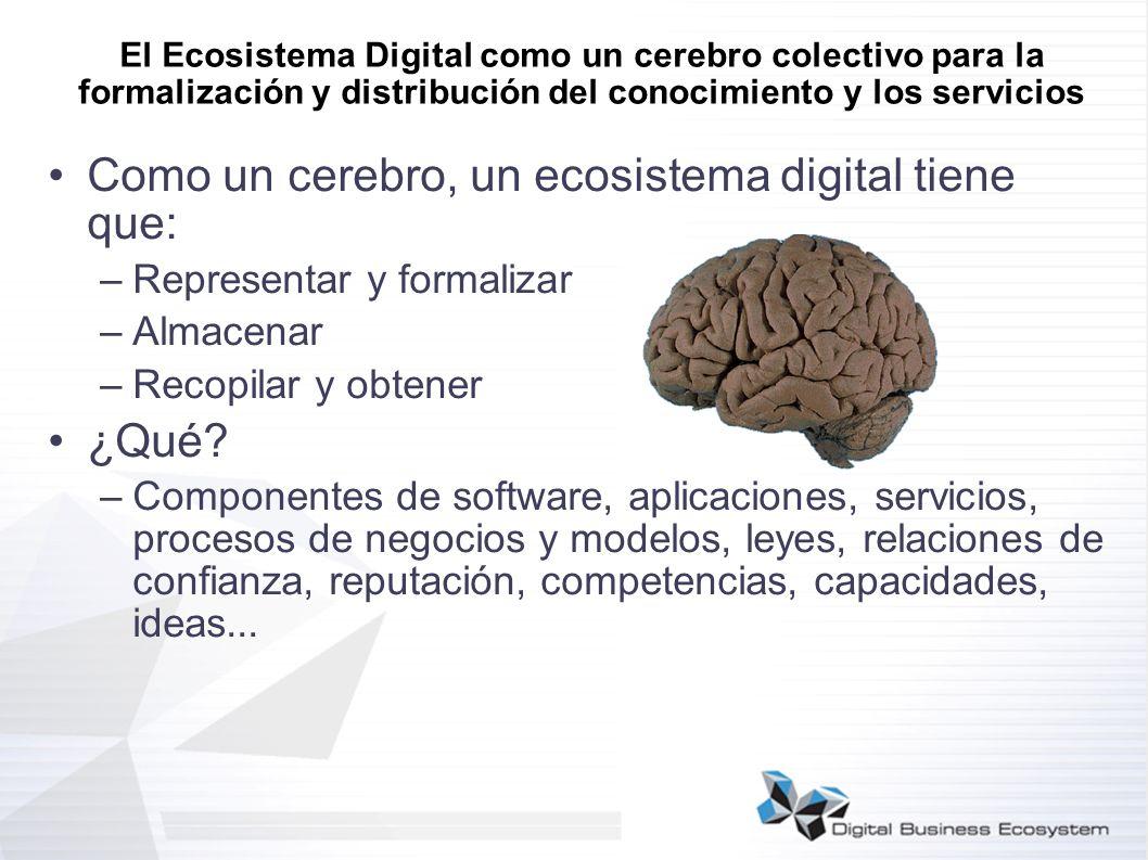 Como un cerebro, un ecosistema digital tiene que: