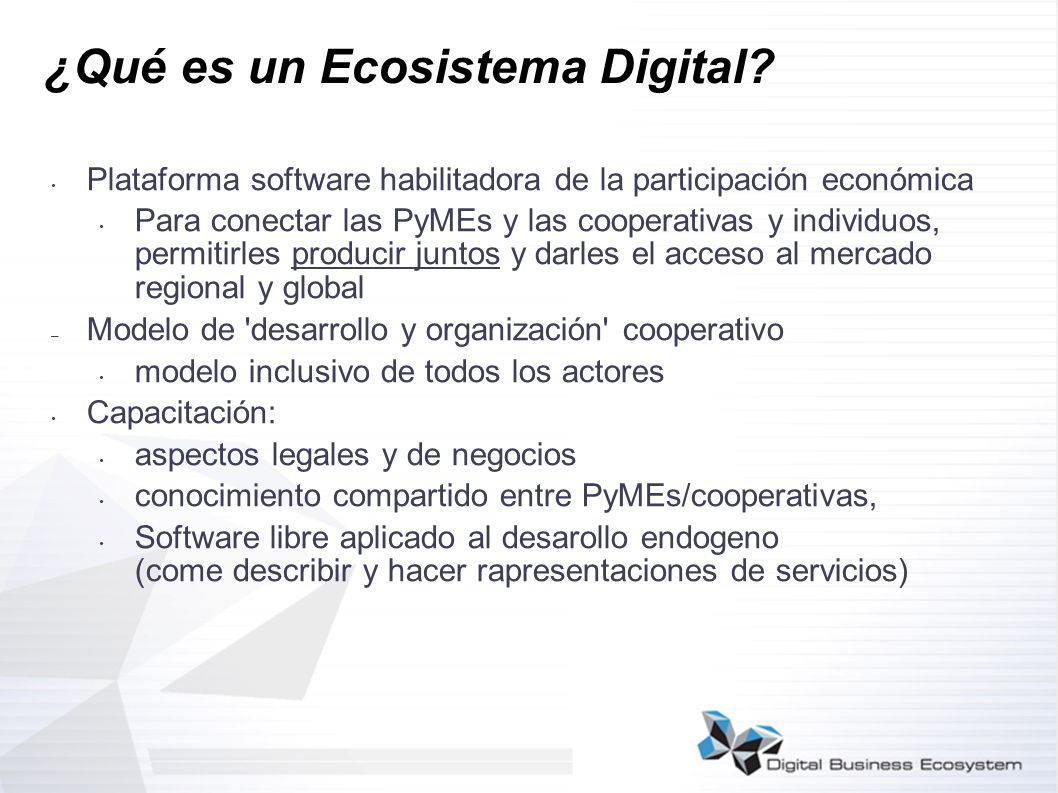 ¿Qué es un Ecosistema Digital