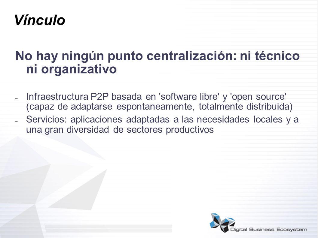 Vínculo No hay ningún punto centralización: ni técnico ni organizativo
