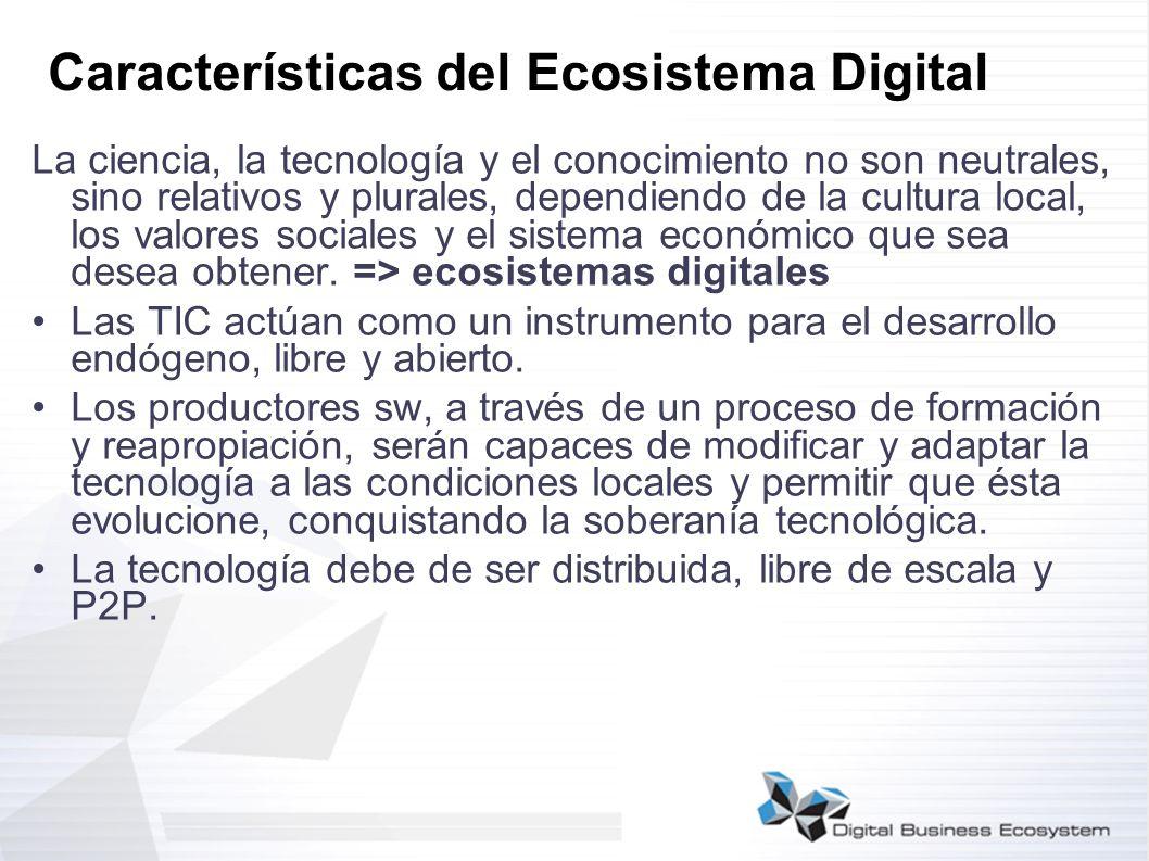 Características del Ecosistema Digital