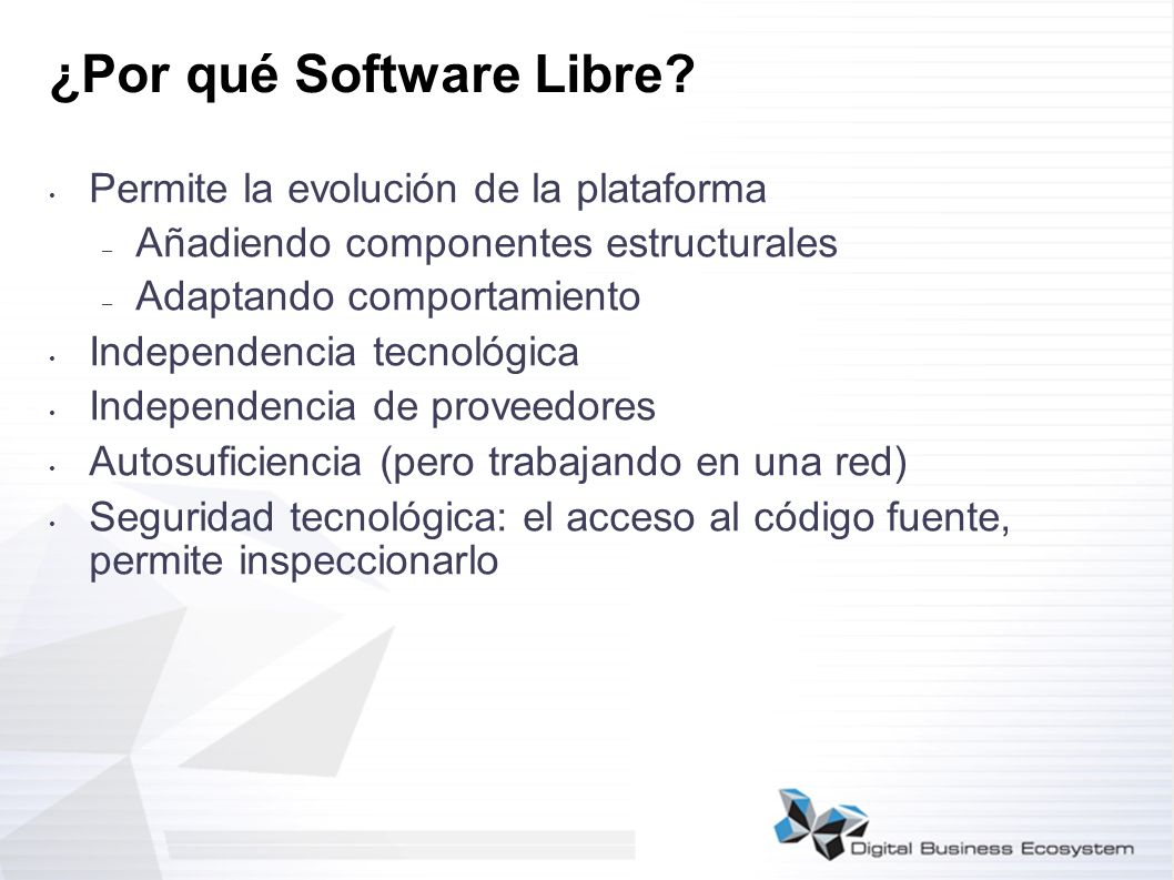 ¿Por qué Software Libre