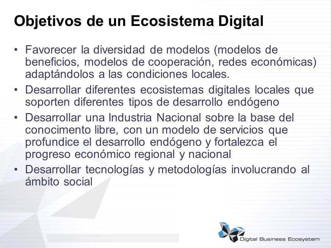 Objetivos de un Ecosistema Digital