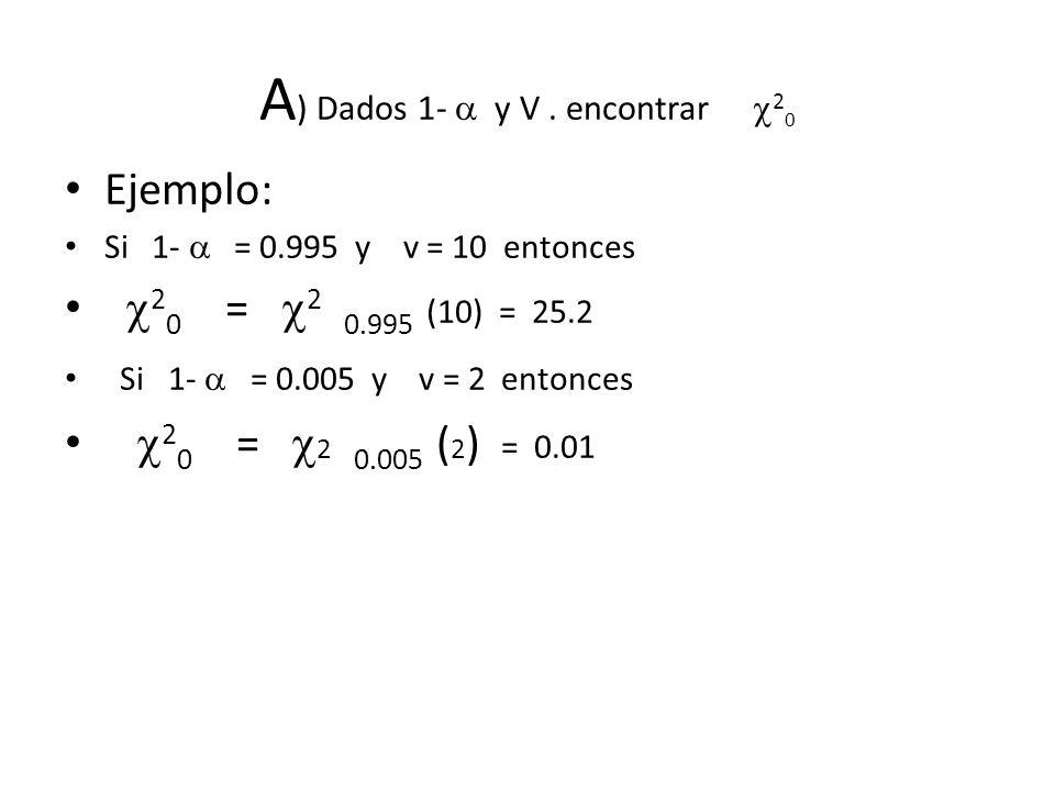 A) Dados 1-  y V . encontrar 20
