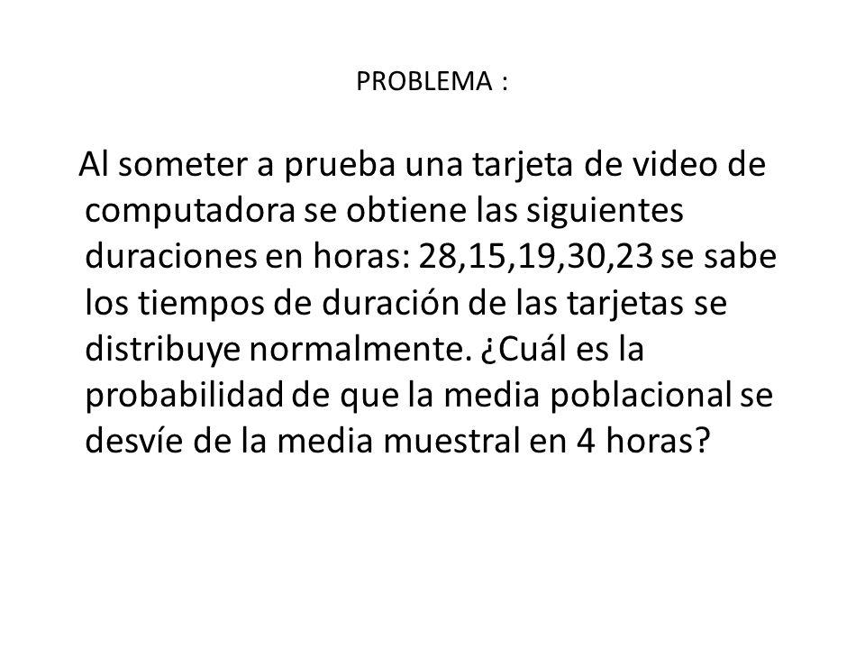 PROBLEMA :