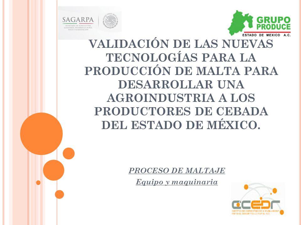 Proceso de maltaje equipo y maquinaria ppt descargar for Maquinaria y utensilios para la produccion culinaria