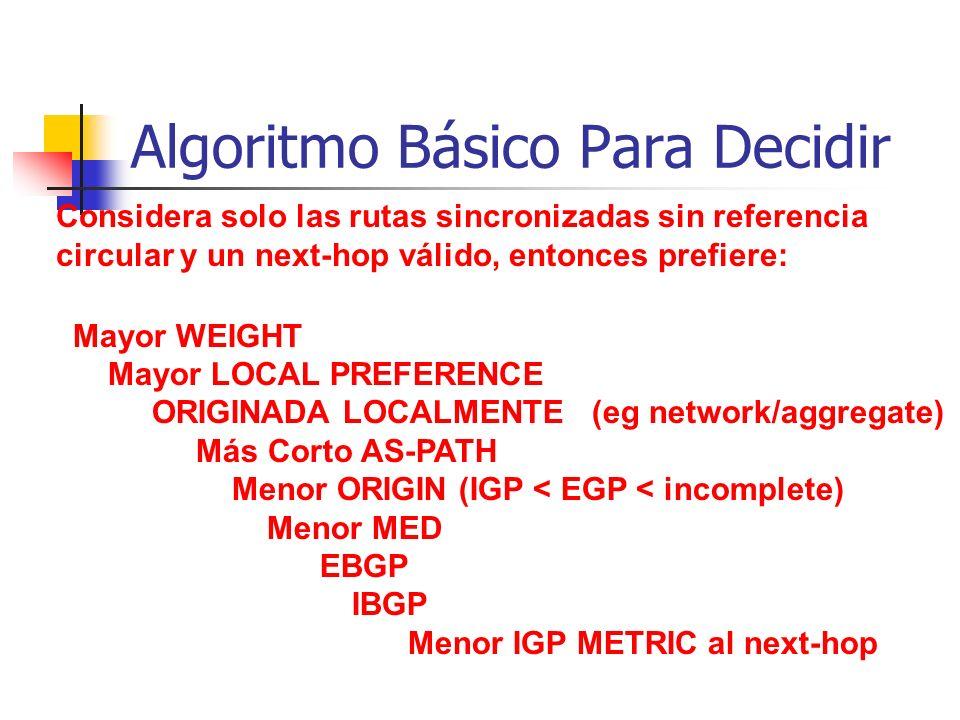 Algoritmo Básico Para Decidir